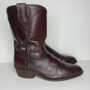 FRYE Leather Roper Cowboy Boots Western Oxblood